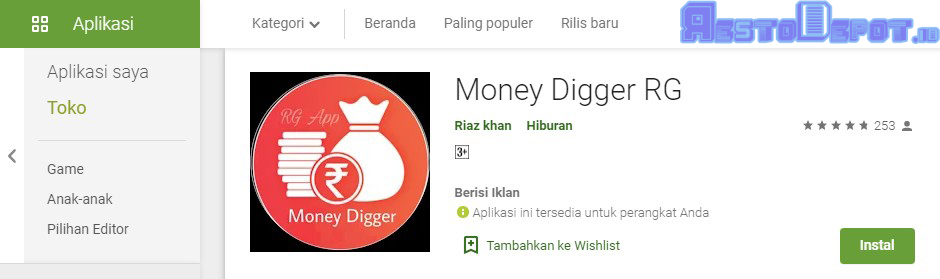 Money Digger Penghasil Uang