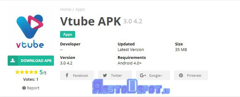 VTube 3.0 4.2 Apk Download