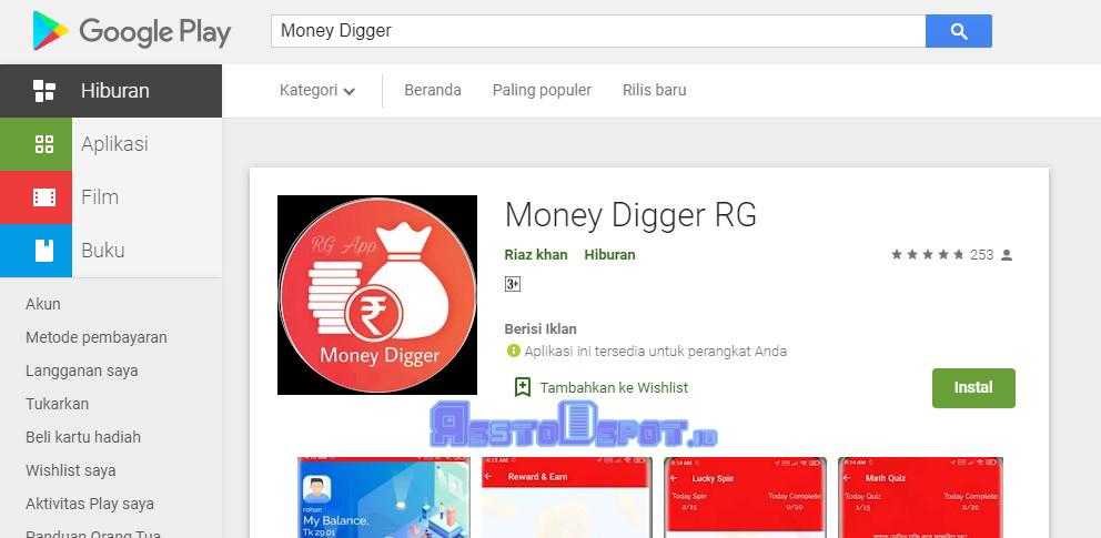 Cara Download Aplikasi Money Digger